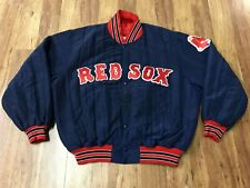 MENS LARGE - Vtg 90s NFL Boston Red Sox Starter Sewn Quilted Snap Jacket USA