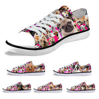 Women Casual Low Top Canvas Shoes Fashion Sneaker Flat Leisure Shoes For Ladies