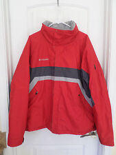 Columbia Red/Gray Waterproof Breathable Fabric Jacket Men's XL