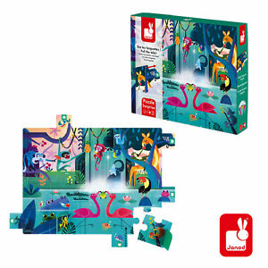 New JANOD SURPRISE PUZZLE - 20 PIECES - A FEAST IN THE JUNGLE Early Years JIGSAW