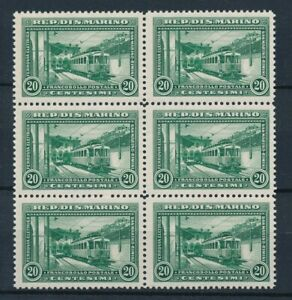 [P15007] San Marino 1932 : Trains - 6x Good Very Fine MNH Stamps in Block