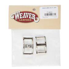 "Weaver Tack Repair/Replacement Buckles, Conway, Nickel Plated, 5/8"", 2-Pack Z210"