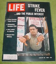 LIFE MAGAZINE AUGUST 26 1966 STRIKE FEVER LABOR UNIONS UNITED AIRLINES