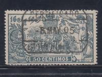 ESPAÑA (1905) USADO SPAIN - EDIFIL 263 (50 cts) EL QUIJOTE - LOTE 1