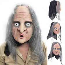 Halloween Face Mask Old Hag Witch Mask Latex Costume Fancy Dress Prop Party