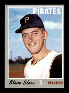 1970 Topps #396 Steve Blass Pirates EX+ *7j