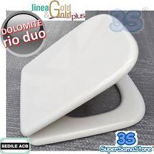3S SEDILE ASSE COPERCHIO x WC RIO DUO Ceramica Dolomite ACB ERCOS GOLD in LEGNO