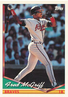 Fred McGriff 1994 Topps #565 Atlanta Braves card