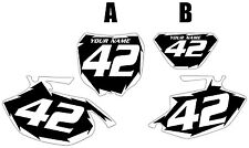 2005-2006 Yamaha WR250F Pre-Printed Black Backgrounds White Shock Series