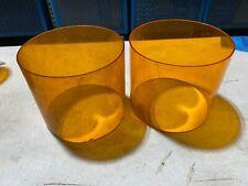 2x Federal Signal Domelamp Lens Amber Strobe Or Beacon 5h X 6w One Broken