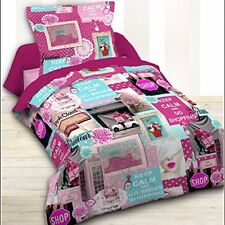 Today 015628 Happy Pink shopping Housse de couette 140 x 200 cm 1 Taie
