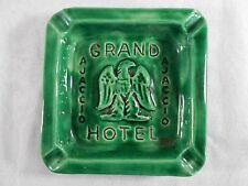 MAGNIFIQUE CENDRIER PUBLICITAIRE GRAND HOTEL AJACCIO EN FAIENCE