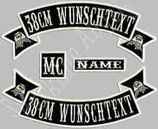 Rückenpatch Aufnäher  Oben  & Unten &Name &MC  Mit  Wunschtext