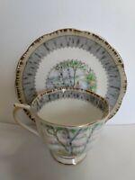 Royal Albert Silver Birch Bone China Tea Cup And Saucer