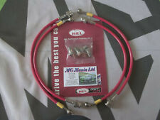 MGTF MG TF Fully Stainless Steel Braided Brake Line Hose Kit  Red mgmanialtd
