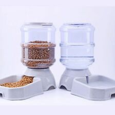 Automatic Pet Feeder Drinking Large Capacity Dog Food Bowl Dish Water Dispenser