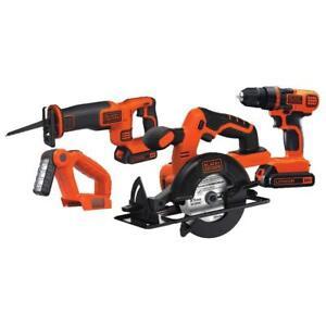 Black & Decker 20V MAX Drill/Driver Circular and Reciprocating Saw Combo Kit
