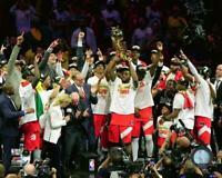 2019 Toronto Raptors NBA Championship Trophy Celebration 8x10 Glossy Photo