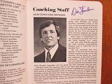 DICK   SHERIDAN  Signed   1979  FURMAN   University  Football  Media  Guide