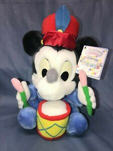 NWT Applause Disney Babies Mickey Mouse Play Drum Instrument Plush Stuffed Toy