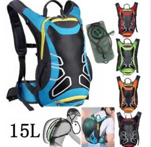 15L im Freien Fahrrad Radfahren MTB Rucksack Camping Helmtasche Wasserbeutel