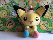 Pokemon Plush Santa Pichu Jingles Bells 2000 Christmas Xmas Holiday Doll figure