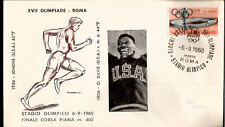 1960 Olympic Games Italy USA Gold Medal Otis Davis 400meter Dash First Day Cover