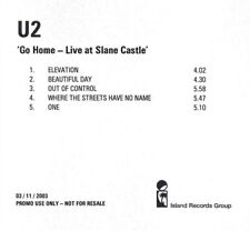 U2 GO HOME 5 Track CD Acetate Promo