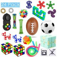 24 Pcs Sensory Toys Set Relieves Stress & Anxiety Fidget Toy for Children Adults
