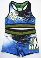 New listing Cheer Athletics AL REVERSIBLE Cheerleading Uniform Practice Rebel Adult Large