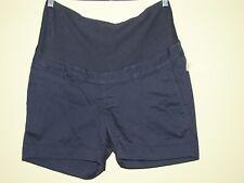 RARE H&M Blue Kaki Shorts Mama Maternity High Rib Kaki Shorts US Size 8 / US 38