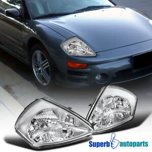 For 2000-2005 Mitsubishi Eclipse Headlights Front Head Lamps Pair