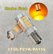 Strobe Front Signal Light 1156 BA15S 3497 7506 P21W 92 LED Bulb Amber W1 JAE