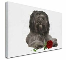 More details for tibetan terrier with red rose x-large 30