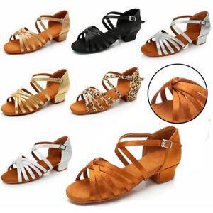 Ballroom women Latin Dance Shoes for Ladies/Girls/Kids soft Tango&Salsa heels