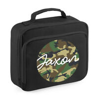 PERSONALISED Camouflage Lunch Cooler Bag Boys Insulated School Dinner Bag BP1