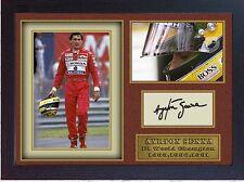 AYRTON Senna SIGNED AUTOGRAFO Signiert Signatur Autogramm signiertes con struttura in MDF