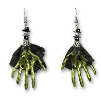 Bruja Esqueleto Pendientes Colgantes, verde hexenhände CON TUL MUJER NIÑO