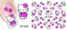 Hello Kitty Pink Nail Art Sticker Decal Decoration Manicure Water Transfer