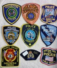 """LOT🎁of Various Embroidered Official """"Police"""" Patches"""
