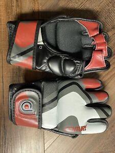 Century Drive Mens Training Gloves Size MEDIUM Black/Maroon/White