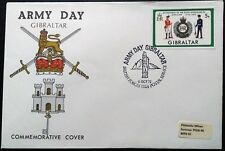 1972 Army Day Gibraltar COVER  bfps 1324