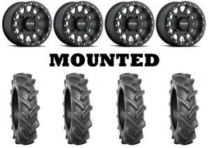 Kit 4 BKT AT 171 Tires 28x9-14 on Method 401 Beadlock Matte Black Wheels FXT