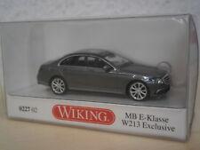 Wiking - Mercedes-Benz E-Klasse Limousine (W 213) grau-metallic - 0227 02 - 1:87