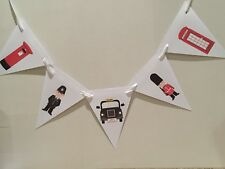 London Party Bunting Happy Birthday Taxi Number Plate, Soldier, Policeman