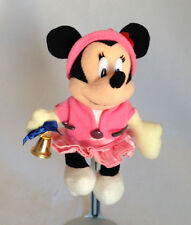 "Minnie Mouse 5"" plush Pink Dress with working bell and safety pin Tokyo Disney"