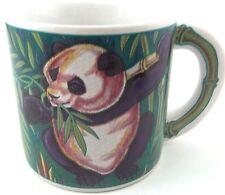 ZooBabeez Large PANDA Coffee Tea Cup Mug 1991 Bamboo Design on Handle