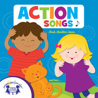 NEW Action Songs Music CD Move Groove Upbeat Fun Dance Silly Preschool Daycare