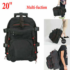 20'' Large Capacity Trolley Luggage Bag Travel Laptop Roller Wheel Wide straps