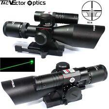 Vector Optics Sideswipe 2.5-10x40 Tactical Optic Rifle Scope Green Laser Hunting